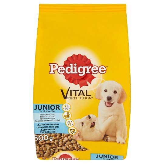 Суха храна за куче PEDIGREE junior пиле 500 г